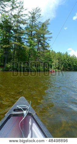 canoe in lake