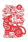pic of kirigami  - Chinese papercut  twelve Chinese horoscope animals art - JPG