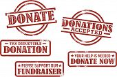 Donation and Fundraiser Stamps