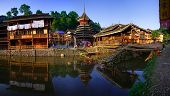 picture of dong  - Zhaoxing Dong Village in Southeast Guizhou Miao and Dong Nationalities Autonomous Prefecture of southwest China is one of largest ethnic Dong Minority towns in region - JPG