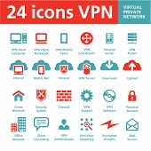 24 Vektor-Icons VPN (Virtual Private Network)