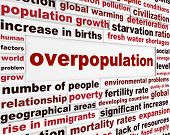 image of overpopulation  - Overpopulation global problem creative poster - JPG