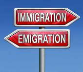 immigration and emigration migration migrate to or from country urbanization visa or green card to b
