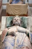 picture of anjou  - Tomb of Richard the Lionheart and Isabella of Angouleme in Fontevraud Abbey  - JPG