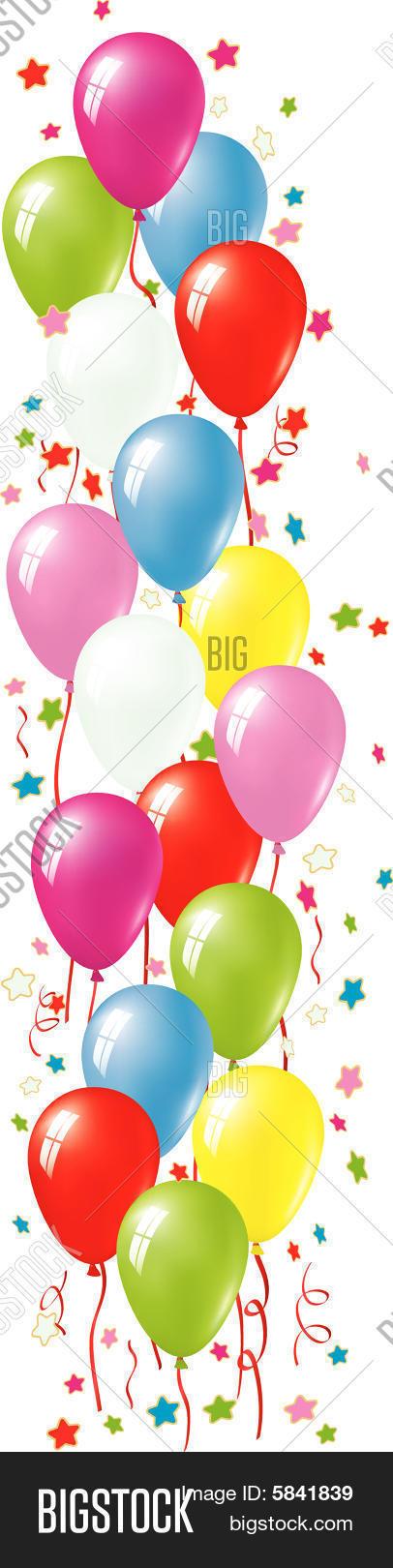 Birthday Balloons Border Clipart Balloon border template free