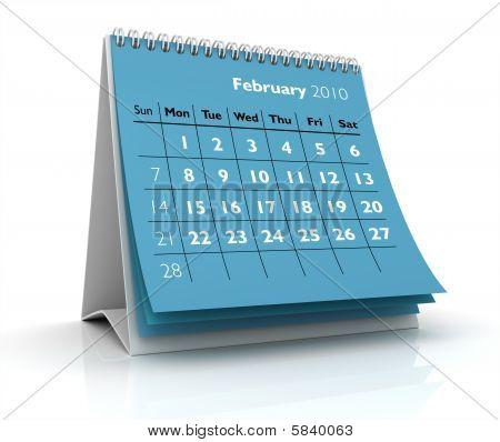 2010 Calendar. February