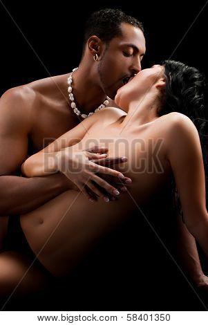 Art photo of nude sexy couple