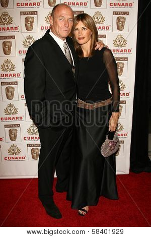 LOS ANGELES - NOVEMBER 2: Corbin Bernsen and Amanda Pays at the 2005 BAFTA/LA Cunard Britannia Awards at Hyatt Regency Century Plaza Hotel on November 2, 2006 in Century City, CA.