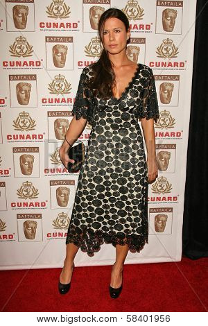 LOS ANGELES - NOVEMBER 2: Rhona Mitra at the 2005 BAFTA/LA Cunard Britannia Awards at Hyatt Regency Century Plaza Hotel on November 2, 2006 in Century City, CA.