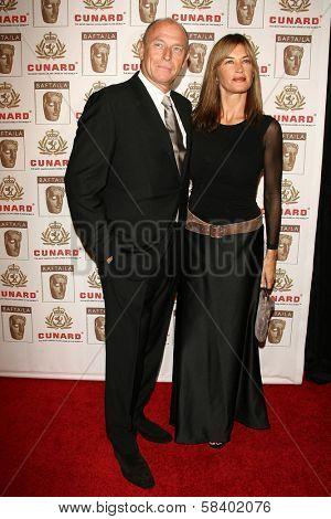 LOS ANGELES - NOVEMBER 2: Corbin Bernsen and Amanda Pays at the 2005 BAFTA/LA Cunard Britannia Awards at Hyatt Regency Century Plaza Hotel on November 2, 2006 in Century City, CA.