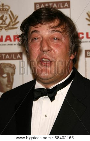 LOS ANGELES - NOVEMBER 2: Stephen Fry at the 2005 BAFTA/LA Cunard Britannia Awards at Hyatt Regency Century Plaza Hotel on November 2, 2006 in Century City, CA.