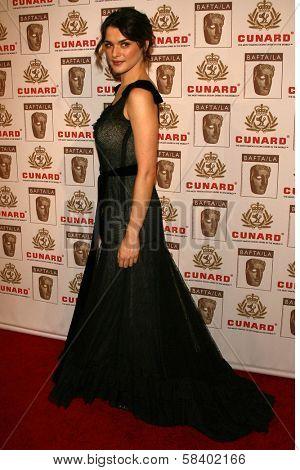 LOS ANGELES - NOVEMBER 2: Rachel Weisz at the 2005 BAFTA/LA Cunard Britannia Awards at Hyatt Regency Century Plaza Hotel on November 2, 2006 in Century City, CA.