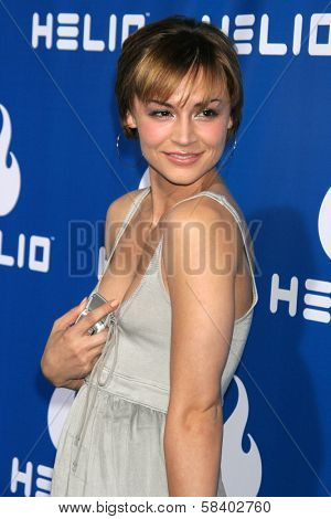 LOS ANGELES - NOVEMBER 13: Samaire Armstrong at the Helio Drift Launch Party at 400 South La Brea on November 13, 2006 in Los Angeles, CA.
