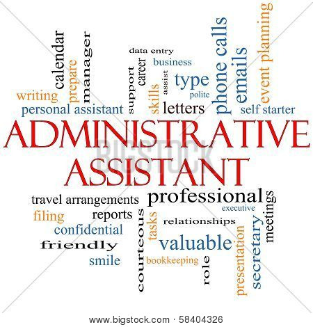 Administrative Assistant Word Cloud Concept