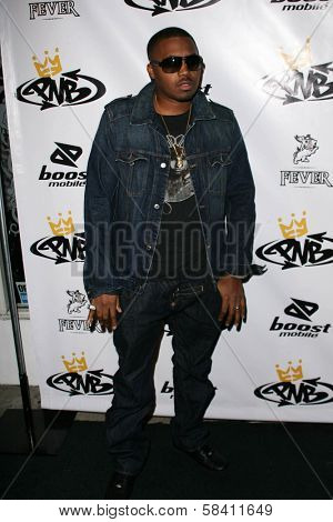 LOS ANGELES - OCTOBER 10: Nas at the birthday party for Nick Cannon and the opening of his flagship store for PNB Nation on October 10, 2006 at PNB Nation Store, Los Angeles, CA.