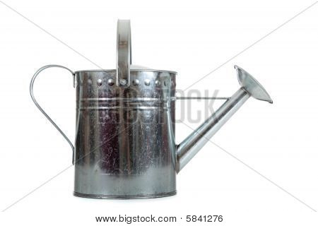 Silver Galvanized Watering Can