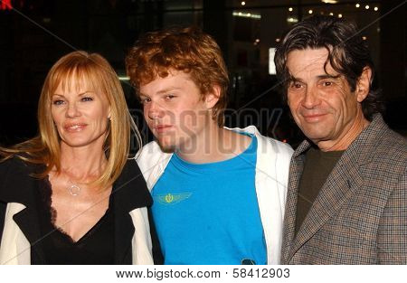 HOLLYWOOD - DECEMBER 06: Marg Helgenberger and Alan Rosenberg with son Hugh at the premiere of
