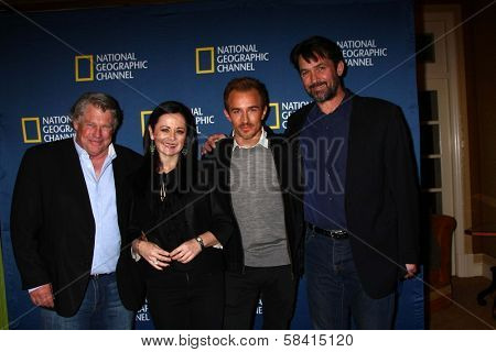 Graham Beckel, Geraldine Hughes, Jesse Johnson, Billy Campbell at the National Geographic Channels'  2013 Winter TCA Cocktail Party, Langham Huntington Hotel, Pasadena, CA 01-03-13