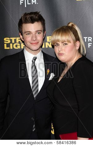 Chris Colfer and Rebel Wilson at the