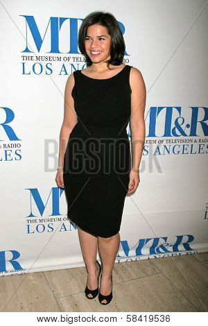 LOS ANGELES - DECEMBER 05: America Ferrera at the Presentation of