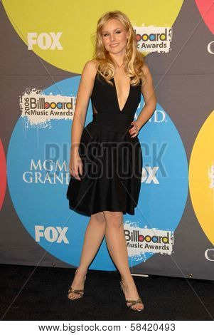 LAS VEGAS - DECEMBER 04: Kristen Bell in the press room at the 2006 Billboard Music Awards, MGM Grand Hotel December 04, 2006 in Las Vegas, NV
