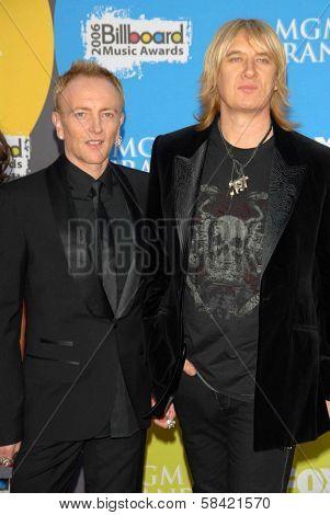 LAS VEGAS - DECEMBER 04: Phil Collen and Joe Elliott arriving at the 2006 Billboard Music Awards, MGM Grand Hotel December 04, 2006 in Las Vegas, NV