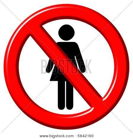 No Women 3D Sign
