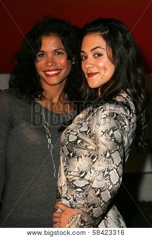HOLLYWOOD - NOVEMBER 02: Lourdes Benedicto and Camille Guaty at the AFI Fest 2006 screening of Pedro Almodovar's