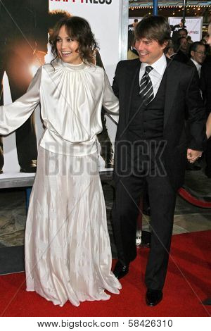 WESTWOOD, CA - DECEMBER 07: Jennifer Lopez and Tom Cruise at the premiere of