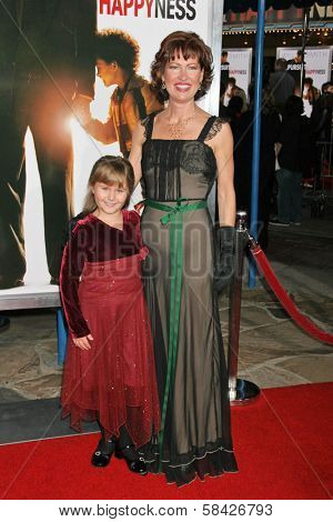WESTWOOD, CA - DECEMBER 07: Ada-nicole Sanger and Trisha Simmons at the premiere of