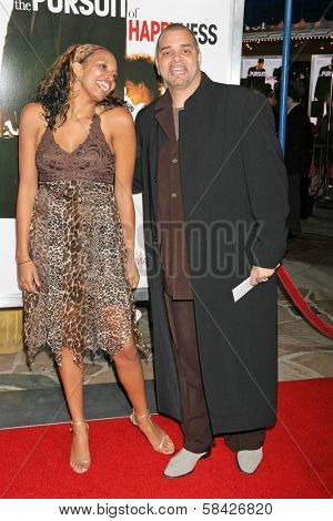 WESTWOOD, CA - DECEMBER 07: Sinbad and wife Meredith at the premiere of