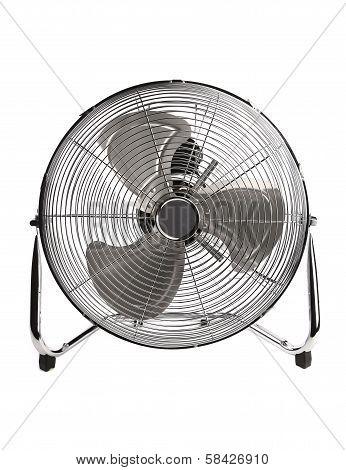 Electric fan in front