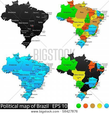 Political and map of Brazil