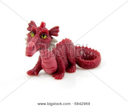 Purple Plastic Dragon Toy