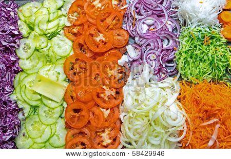 Colourful salad buffet