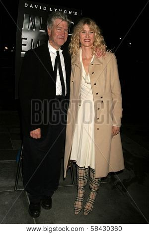 LOS ANGELES - DECEMBER 09: David Lynch and Laura Dern at the Los Angeles Premiere of Inland Empire at LACMA December 09, 2006 in Los Angeles, CA.