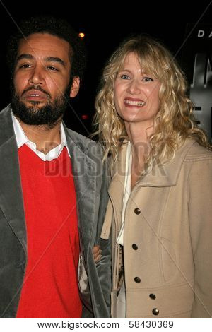 LOS ANGELES - DECEMBER 09: Laura Dern and Ben Harper at the Los Angeles Premiere of Inland Empire at LACMA December 09, 2006 in Los Angeles, CA.