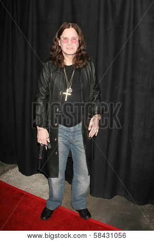 Ozzy Osbourne at the Opening reception for Black Sabbath Resurrection. Black Sabbath Resurrection, Los Angeles, California. November 17, 2006.