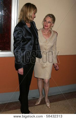 Melanie Griffith and Tippi Hedren at the tribute show