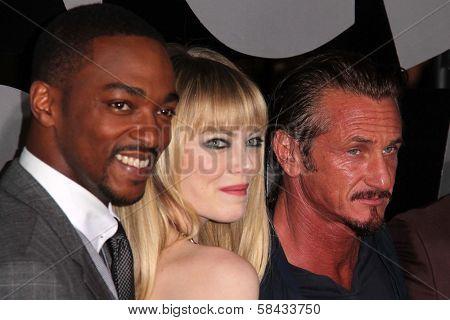 Anthony Mackie, Emma Stone, Sean Penn at the