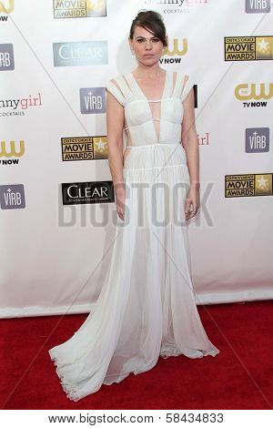 Clea DuVall at the 18th Annual Critics' Choice Movie Awards Arrivals, Barker Hangar, Santa Monica, CA 01-10-13