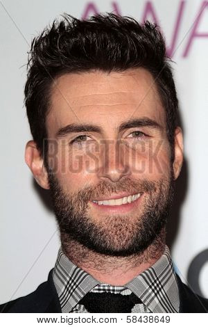 Adam Levine at the 2013 People's Choice Awards Press Room, Nokia Theatre, Los Angeles, CA 01-09-13