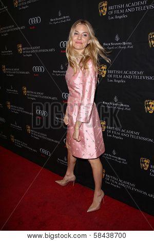 Sienna Miller at the BAFTA Los Angeles 2013 Awards Season Tea Party, Four Seasons Hotel, Los Angeles, CA 01-12-13