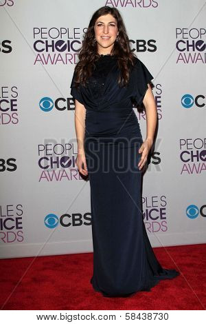 Mayim Bialik at the 2013 People's Choice Awards Press Room, Nokia Theatre, Los Angeles, CA 01-09-13