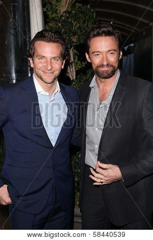 Bradley Cooper, Hugh Jackman at the BAFTA Los Angeles 2013 Awards Season Tea Party, Four Seasons Hotel, Los Angeles, CA 01-12-13