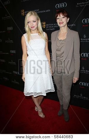 Francesca Eastwood and Frances Fisher at the BAFTA Los Angeles 2013 Awards Season Tea Party, Four Seasons Hotel, Los Angeles, CA 01-12-13