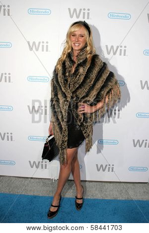 Kimberly Stewart at the party celebrating the launch of Nintendo's Game Console Wii. Boulevard 3, Los Angeles, California. November 16, 2006.