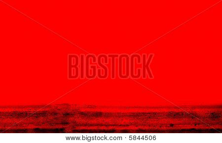Simple But Bold Red With Black Grunge Background