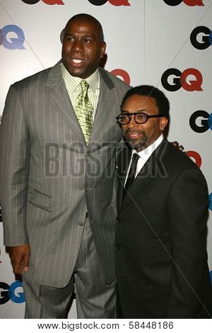 LOS ANGELES - NOVEMBER 29: Magic Johnson and Spike Lee at the GQ Man of the Year Awards at Sunset Tower Hotel November 29, 2006 in Los Angeles, CA.