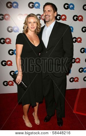 LOS ANGELES - NOVEMBER 29: Mark Cuban and wife Tiffany at the GQ Man of the Year Awards at Sunset Tower Hotel November 29, 2006 in Los Angeles, CA.